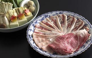 牛豚食べ比べしゃぶしゃぶ宴会